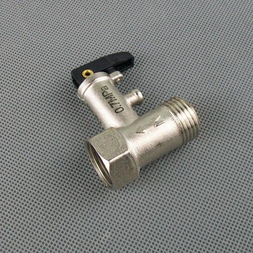 美的万家乐华帝万和电热水器配件泄压阀放水阀限减图片