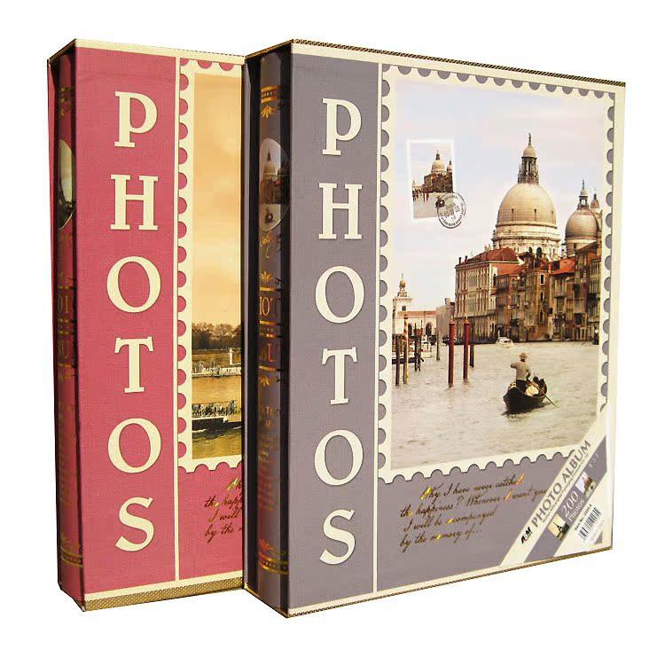 家庭照片相册影集5r7寸200张插页式大本复古素雅相簿创意礼品包邮商品