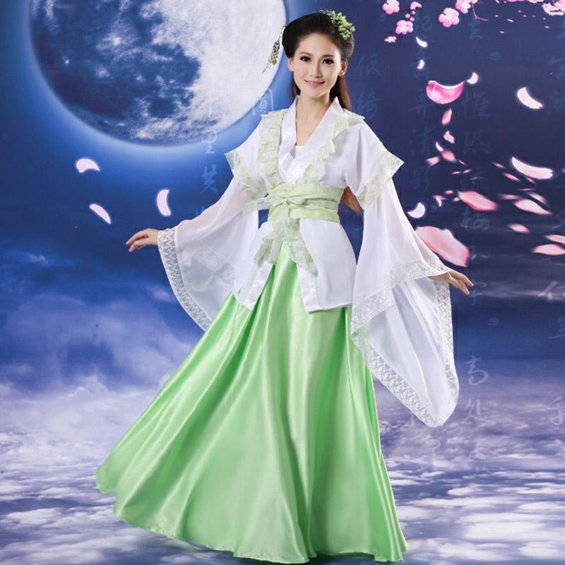 古装唐装改良汉服小姐舞台装仙女公主戏服装影楼写真拍照商品图片价格