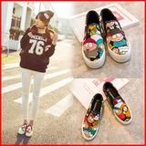 环球春季韩版学生鞋低帮布鞋休闲板鞋松糕厚底鞋乐福鞋女鞋帆布鞋