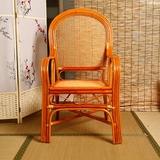 藤椅子老板椅领导椅子老人高靠背办公椅书房椅子真藤家用办公特价