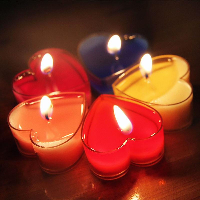 心形蜡烛 聚会祈福生日表白爱心求婚庆无烟蜡烛 浪漫烛光晚餐包邮商品