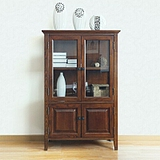 PB美式纯全实木白蜡木电视柜边柜多用柜书柜餐边柜 地柜组合书柜
