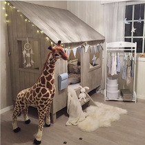 ins explosion models original single simulation giraffe doll can stand plush toy window display Christmas gifts