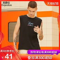 British men's vest tide brand ins summer outside wearing embroidered sleeveless personality tide T-shirt loose beach clothes
