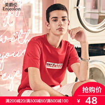 British Grand Canal 2019 summer new men's short-sleeved T-shirt youth trend printing loose cotton large size compassionate