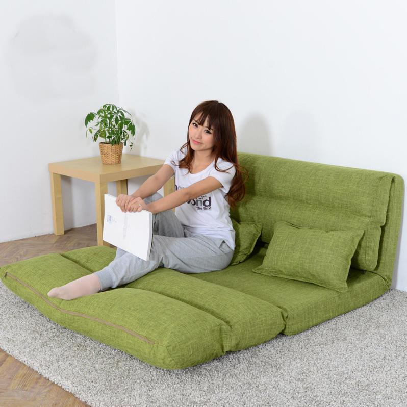 品诺奇懒人沙发小户型布艺双人榻榻米折叠多功能单人沙发床可拆洗