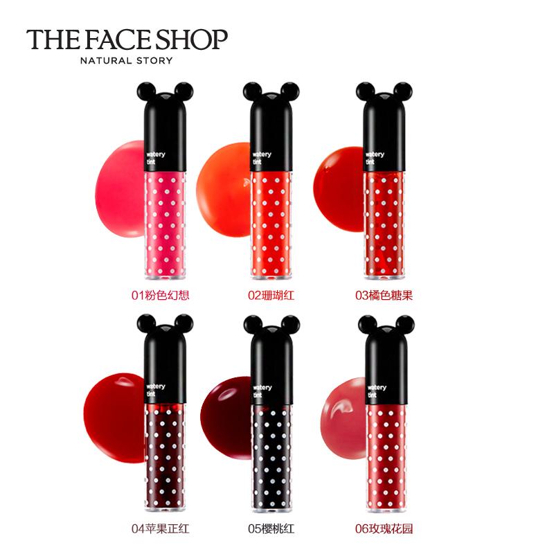 The Face Shop 迪士尼水润唇彩2只组合 保湿补水滋润咬唇显色唇妆