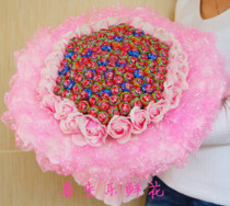 Hefei 99 Lollipop Bouquet Candy Creative Birthday Valentines Day flower gifts Hefei with the city to send flowers