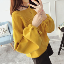 Large size womens autumn and Winter new fat mm loose cover belly sweater 200 pounds shirt fat sister shirt