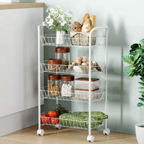Space living kitchen rack mobile basket carts bedside bathroom balcony rack toilet storage rack