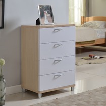 Space life simple modern four-drawer cabinet living room storage cabinet drawer locker bedroom bedside cabinet