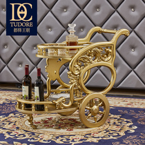Tudor dining car European-style solid wood luxury leather size apartment French outfit combination living room storage car