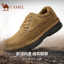 camel Camel mens shoes 2019 daily casual shoes male thick leather casual shoes male suture handmade shoes