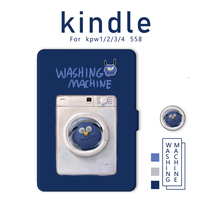 Alone with the line original illustration washing machine kindlepaperwhite1234 558 microphone cushions e-book case
