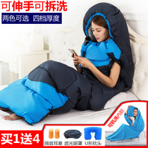 Autumn and winter outdoor adult sleeping bag travel dirty single double camping indoor padded cotton reach sleeping bag