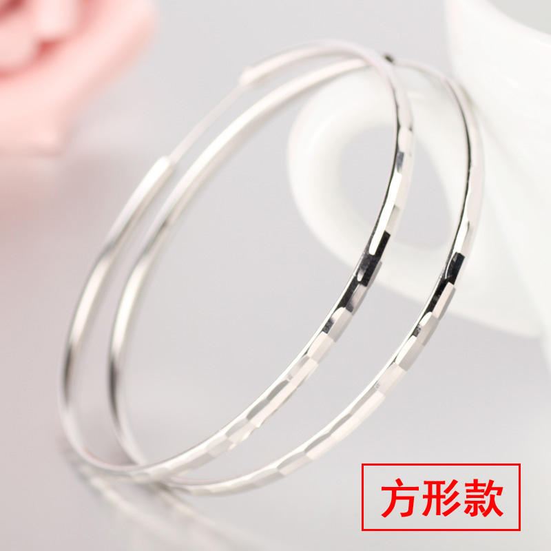 925 pure silver small earrings Japanese Korean temperament earrings simple atmospheric personality jewelry round earrings girlfriend gift.