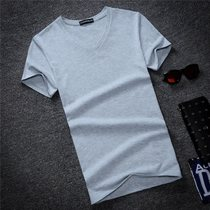 2017 casual v neck short sleeve T shirt men 5XL tshirt