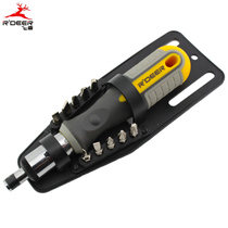 Hong Kong Flying Deer Ten-in-One Ratchet-type Head Change Batch Chrome-Chi-Steel Multi-Use Screwdriver Batch Head Set RT-1612