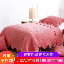 Girls pink children quilt spring and autumn were kindergarten nap two sets of autumn and winter air conditioning quilt skin cover