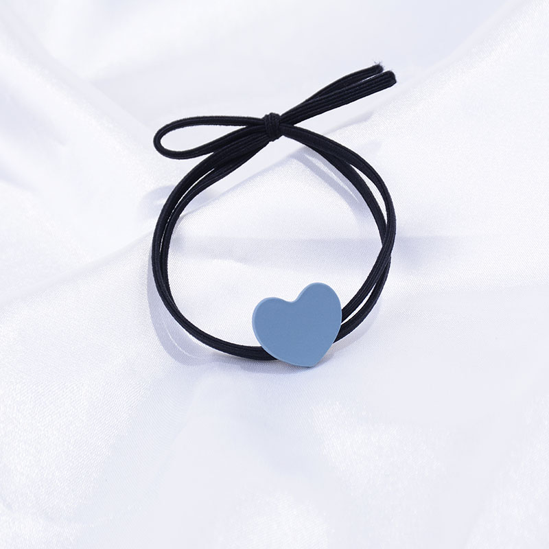 Mushroom cool alloy love hair rope Korean version cute girl net red horse tail head rope fresh rubber band hair ring.