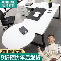 Fashion boss desk CEO desk minimalist manager desk modern panel desk boss desk president computer desk