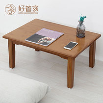 Small Kang table Home solid wood tatami coffee table balcony bay window table tea table Low Table Tea Table simple mini creative