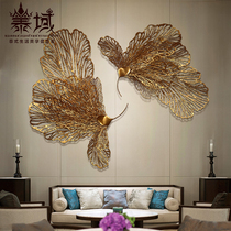 Thai domain Southeast Asia wrought metal wall decoration new Chinese designer wall soft decorations Club Hotel pendant
