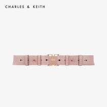 CHARLES & KEITH belt CK4-32250231 vintage metal buckle ladies wide belt