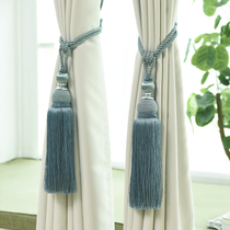 Modern minimalist curtain strap curtain tied rope hanging ball tassel hook wall hook European curtain strap curtain buckle