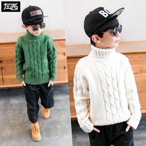 Zuo Mengdan Boy turtleneck sweater 2018 new Childrens knitwear sleeve thickening autumn and winter section of the Korean version of the Tide