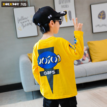 Left West boy long-sleeved t-shirt autumn 2019 New childrens bottoming shirt cotton large childrens spring and autumn Korean version