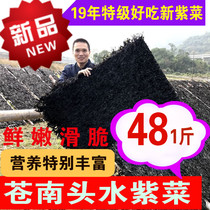18 November New Harvest premium head water wild Nori Cangnan Sun seaweed dry goods 1 kg seaweed soup