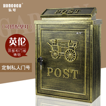 Style européen villa mailbox outdoor inbox pastoral retro mailbox rain letter box creative mailbox many places