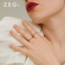 ZENGLIU cold wind fine ring female Japanese Light Luxury index finger ring Red simple temperament niche design ring