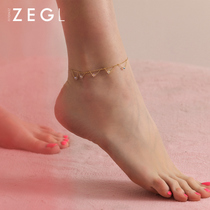 ZENGLIU anklet womens fashion Korean version of the Mori Department ankle chain simple personality foot chain students adult foot