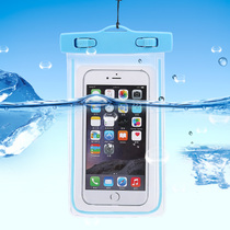 New underwater camera phone waterproof bag bubble hot spring swimming touch screen bag diving set transparent seaside mobile phone shell hanging neck.