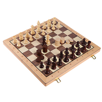 Chess childrens students beginner chess board black and white chess game dedicated large office home