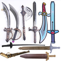 85g Halloween Decorative Simulation weapon Caribbean Pirate knife Eva Zorro Sword Roman Sword Armor Sword axe