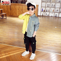 Missy fruit boys shirt children shirt long-sleeved cotton 2020 new spring and autumn Korean version of the Yang Qi personality shirt