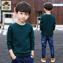 Childrens clothing boys winter clothing 2019 New plus velvet bottoming shirt childrens long-sleeved t-shirt autumn and winter foreign boy tops