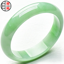 Lange B8 jadeite bangle natural a goods jade bracelet a jade bracelet jade bracelet gold Taojin deduction