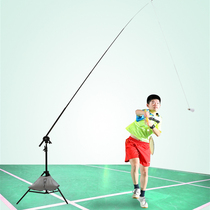 Portable Badminton Trainer Single Force Practice Badminton Doesnot Have to Pick Up Ball To Accompany Auxiliary Swing Trainer
