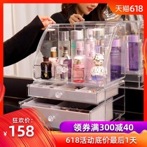 Transparent jewelry storage box cosmetics racks earrings necklaces rings earrings jewelry box large capacity jewelry box