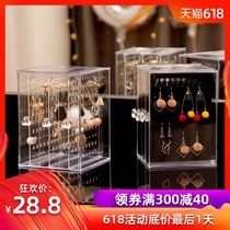 Earrings box Transparent Finishing earrings acrylic earrings jewelry dust rack display necklace jewelry storage box