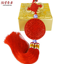 Lacquer car ornaments to send foreigners gifts Chinese knot small gifts lacquer ware gifts crafts to send foreigners Beijing gift