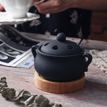 Electric incense furnace timing thermostat aromatherapy furnace sandalwood sawdust fragrant pill essential oil incense furnace plug-in household ceramics