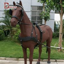Carriage harness harness Rama horse harness to catch the carriage horse cart single horse and Double Horse eight feet long harness bcl195901