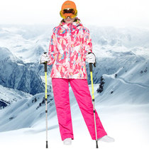 Ski suit suit female models Korean ski pants winter outdoor thick waterproof jackets warm mountaineering clothing