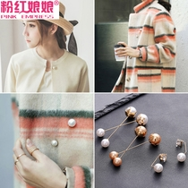 Korean students imitation pearl sweater pin buckle jacket cardigan brooch womens ornaments scarf buckle pin accessories corsage